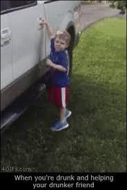 Drunk Kid Meme - drunk kid falls truck door mabuku the funny hamster
