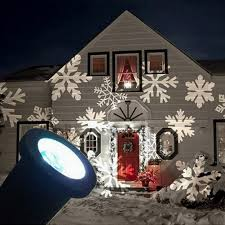 gesimei led flood lights indoor outdoor moving white snowflake