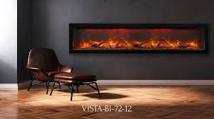 Indoor Electric Fireplace Vista Bi 72 12 Electric Fireplace