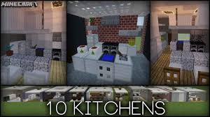 minecraft 10 kitchen designs plus tips youtube