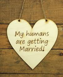 decorations wood sign humans getting married heart