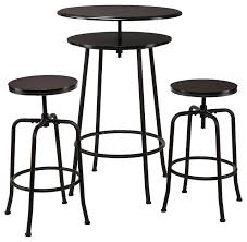 Adjustable Bar Table Bar Stool Avery 3 Piece Adjustable Bar Stool Set 3 Piece Drop