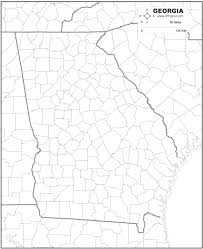 County Map Ga Free Map Of Georgia