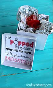 ideas for asking bridesmaids to be in your wedding he popped the question bridesmaid ring pop idea free printable
