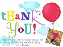 birthday thank you notes birthday thank you smilebox