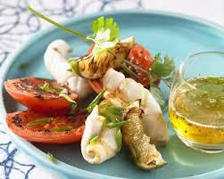 recette cuisine plancha recette calamars et tomates à la plancha