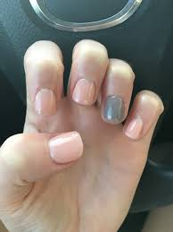 classic and subtle gray sparkly nexgen nails pink for fall