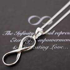 infinity necklace silver images Infinity necklace in sterling silver by lovethelinks jpg