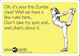 Zumba Meme - the rules of zumba boothbay register