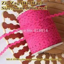 ric rac ribbon free shipping zig zag ric rac lace ribbon width 5 6mm 100m