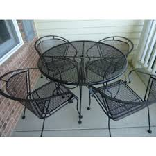 Steel Patio Chairs Black Metal Patio Furniture My Apartment Story