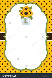thanksgiving card templates vector card template sunflowers mason jar stock vector 666217522
