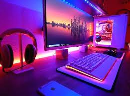 Pc Desk Setup Gaming Bedroom Setup Modern Computer Desk And Bookcase Designs