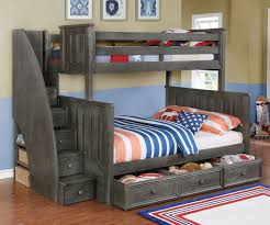 Bunk Bed House Brandon Bunk Bed With Stairs In Driftwood Gray