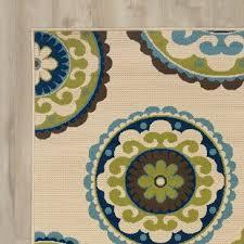 beige green outdoor rugs you ll love wayfair