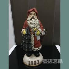 1893 santa claus takes presents christmas tree ornament american