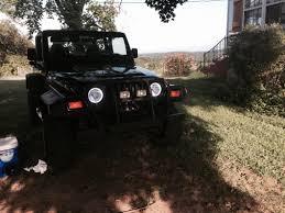 jeep black headlights delta wrangler classic xenon halo 7 in headlight kit 01 1179 50xh