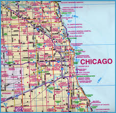 chicago map chicago map travelsfinders