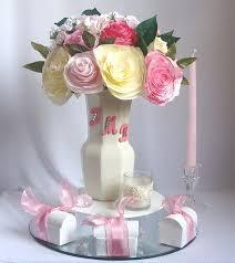 personalized centerpiece romantic wedding decor pink bridal