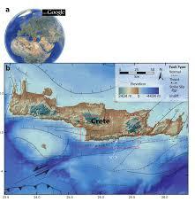 Crete Map Figure 1 Location Map Of Crete