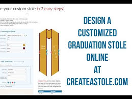 custom graduation sashes how to create your graduation stole online