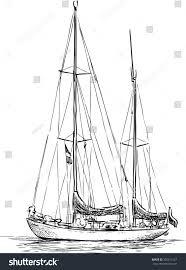 sailing boat sketch stock vector 305811527 shutterstock