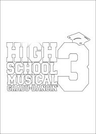High School Musical 3 Coloring Pages Coloring Pages For High