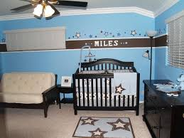 Light Blue Beige White Bedroom With Light Wood Furniture by Baby Nursery Decor Miles Home Baby Boy Nursery Inspiration