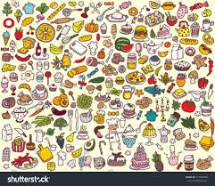 big food kitchen collection stock vector 113043388 shutterstock