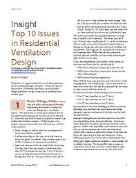 top ten issues in residential ventilation design bsc