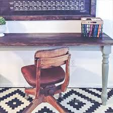 Diy Kid Desk Diy Rustic Farmhouse Desks From A Kitchen Table Thirty Eighth