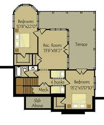 walkout house plans small cottage plan with walkout basement cottage floor plan