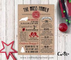 year in review christmas card year in review family christmas card infographic christmas cards
