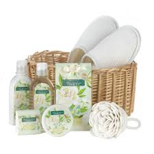 Spa Gift Baskets For Women Bath And Body Gift Set Healthy Spa Basket For Women White
