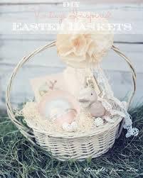 vintage easter baskets diy vintage inspired easter baskets