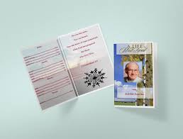 Funeral Program Printing Services Nature Park Funeral Program Template Funeral Templates Funeral