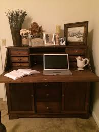 Secretary Desk Hutch by Furniture Dark Wood Secretary Desk With Hutch On Cozy Pergo