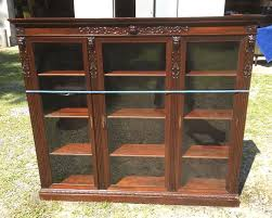 Ebay Bookcase by R J Horner Triple Door Carved Griffin Mahogany Bookcase