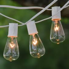 c9 incandescent light strings 50 ft white c9 string light with vintage edison clear bulbs