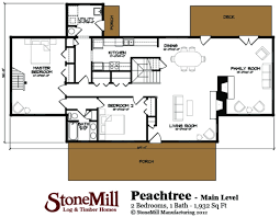 peachtree floor plan stonemill log u0026 timber homes