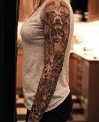 cool arm sleeves tattoos mind blowing bear sleeve tattoo creativefan