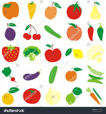 editable fruit fully editable vector fruits vegetables details stock vector