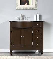 Marble Top Bathroom Cabinet Silkroad Exclusive Hyp 0902 Wm Uwc 38 L 38
