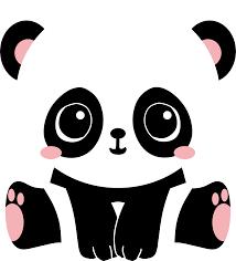 clipart adorable panda