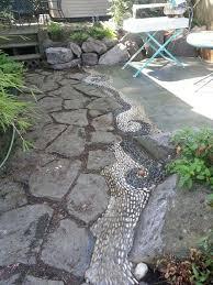Patio Rock Ideas Best 25 River Rock Patio Ideas On Pinterest Modern Backyard