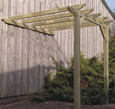 Pergola Post Design by 3 6m X 3 1m Lean To Pergola Gazebo Kit With 95mm Posts Wooden