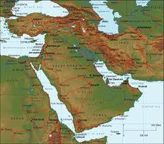 middle east map water bodies globalhistorycullen everything middle east post 1900