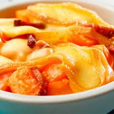 cuisiner potiron tartiflette au potiron et fromage à raclette recette au fromage