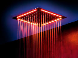 add led lighting for your shower heads to the best bathing
