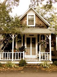 Small Cute Houses by Rails Shingles Attic Only Porch Lines Cottage At Oak Bluffs